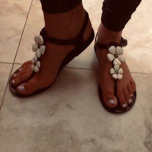 kate spade | Black Jelly Findley Flower Sandals
